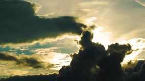 Clouds in the Afternoon Time Lapse stock footage