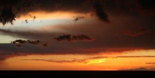 clouds afton Royaltyfri Foto