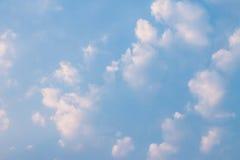 clouds aftonskyen Arkivfoto