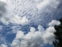 Clouds against a blue Louisiana sky royalty free stock image