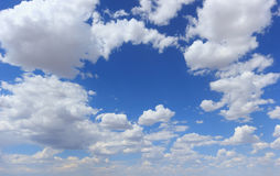 Clouds. Clouds against the blue sky stock photography