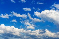 Clouds against blue sky. Beautiful high sky. stock photo