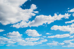 Clouds against the blue sky. Clear weather Royalty Free Stock Photography