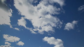 Clouds against the bright blue sky stock video footage