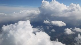 In the clouds stock footage
