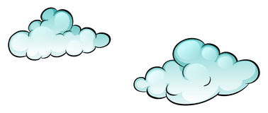 Clouds. In the air poster stock illustration