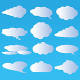 Clouds and air vector. On a blue background Royalty Free Stock Photography