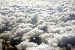 Clouds from airplane Stock Photo