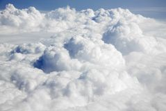 Clouds from an airplane Stock Photo