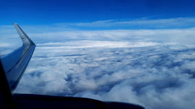 Clouds from an airplane Royalty Free Stock Image