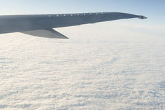 Clouds from an airplane Stock Image