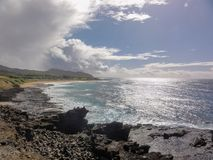 Clouds along the coast of Oahu Stock Photography