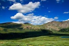 Clouds along the Colorado mountains Stock Photo