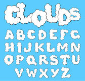 Clouds alphabet Stock Photos