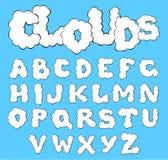 Clouds alphabet Stock Photos