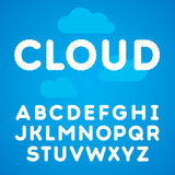Clouds alphabet on a blu sky background Royalty Free Stock Photos