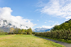 Clouds in the Alps Royalty Free Stock Photography