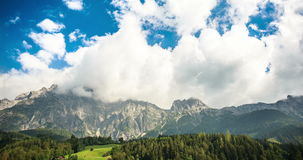Clouds in Alps 4K timelapse video stock video footage