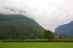 Clouds and Alps Royalty Free Stock Image