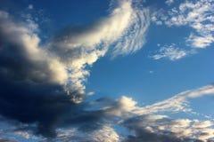 Clouds. Altocumuluson a blue sky Stock Image