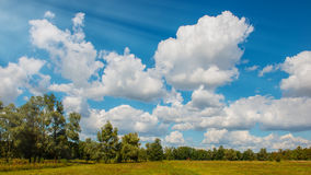Clouds anf trees Royalty Free Stock Photography