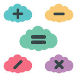 Clouds arithmetic. Set. vector illustration Stock Images