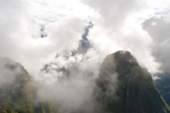 Clouds  around Manchu Picchu. This image shows Clouds in the hills around Manchu Picchu complex in Peru Stock Image