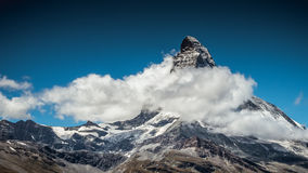 Clouds around Matterchorn, Alps, Swiss. Peak Matterchorn at clouds, Swiss, Alps Stock Images