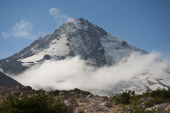 Clouds around Mount Hood, Oregon Royalty Free Stock Photos