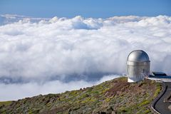 Clouds around observatory Royalty Free Stock Photography