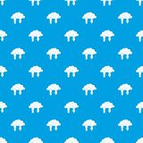 Clouds with arrows pattern seamless blue. Clouds with arrows pattern repeat seamless in blue color for any design. Vector geometric illustration Royalty Free Stock Photos