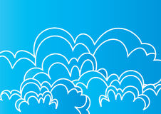 Clouds art - vector Stock Images
