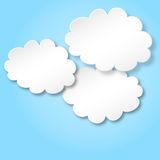 Clouds as background. Vector illustration of some clouds as background Royalty Free Stock Photos