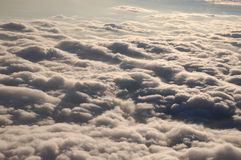 Clouds as seen from the plane Stock Image