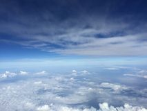 Clouds. In atmosphere from plane stock photos