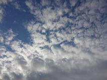 Clouds in autumn sky Royalty Free Stock Photos
