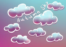Clouds on autumn sky Royalty Free Stock Image