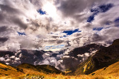 Clouds in autumn Tatras Royalty Free Stock Images