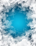 Clouds background. Fine illustration of circle clouds sky background Royalty Free Stock Photos