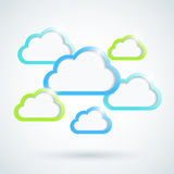Clouds background. The abstract background with clouds Royalty Free Illustration