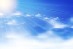 Clouds background. Blue art concept