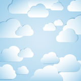Clouds background. The Abstract background with clouds Vector Illustration