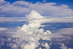 Clouds background as seen by the airplane Stock Photo