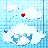 Clouds background with birds Royalty Free Stock Photography