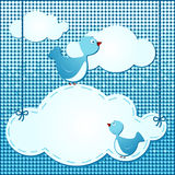 Clouds background with birds Royalty Free Stock Photos