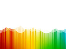 Clouds background colorful stripes Royalty Free Stock Photography