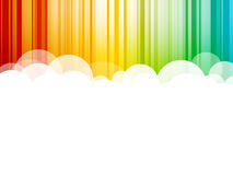 Clouds background colorful stripes Stock Photos
