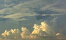 Clouds background cumulonimbus cloud formations. Before the storm Royalty Free Stock Images
