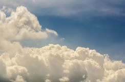 Clouds background cumulonimbus. Cloud formations before the storm Stock Photo