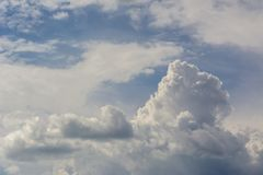 Clouds background cumulonimbus cloud formations before the storm. Background use Royalty Free Stock Image